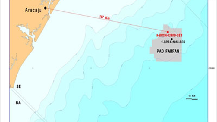 Fanfan area in the Sergipe-Alagoas basin offshore Brazil