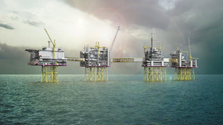 Johan Sverdrup field development offshore Norway