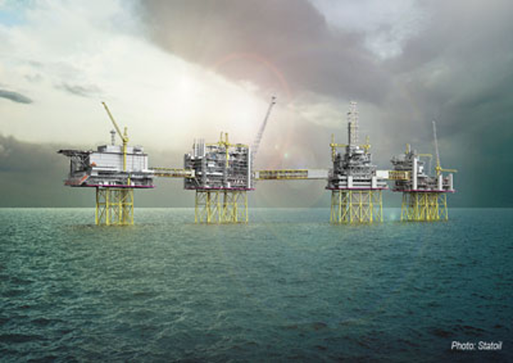 Johan Sverdrup field development offshore Norway