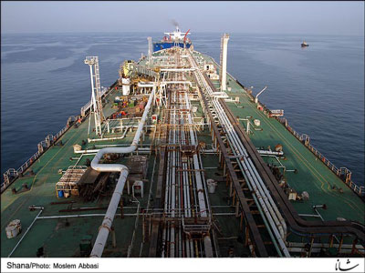 Iran's 2.2-MMbbl floating storage unit/export terminal in the Persian Gulf's Bahregan region