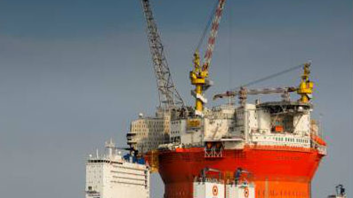The circular Goliat field FPSO