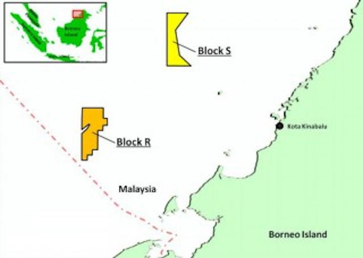 Deepwater block S offshore Sabah, Malaysia