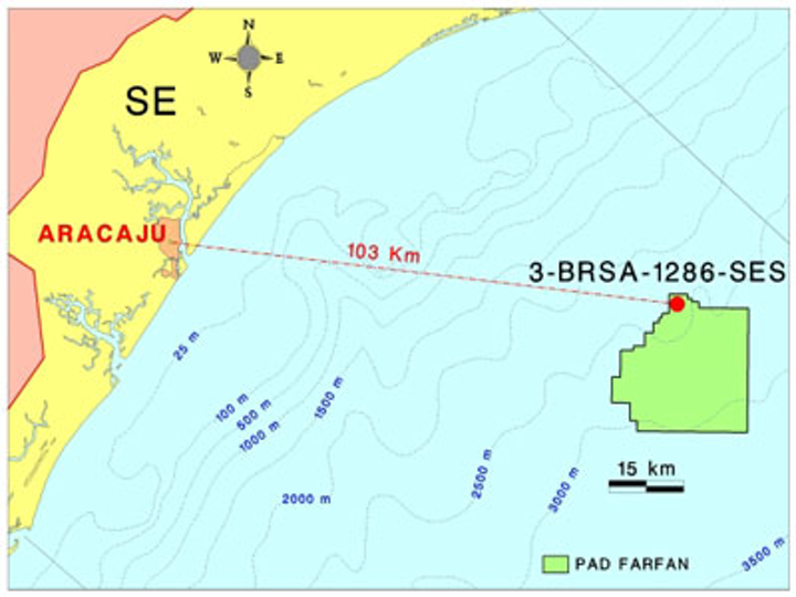 Farfan area in the ultra-deepwater Sergipe basin