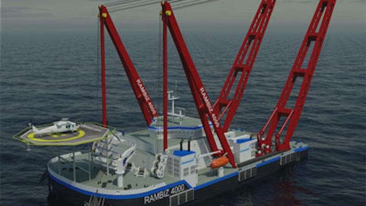 Scaldis new self-propelled crane ship