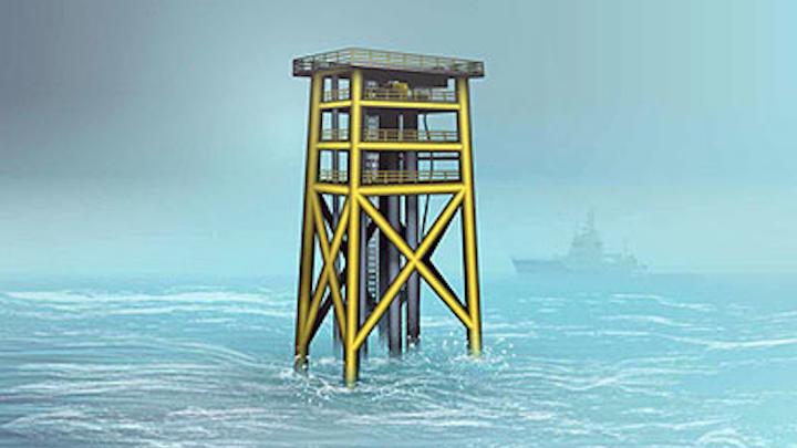 Unmanned wellhead platform