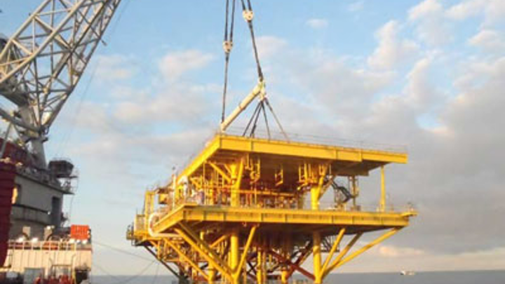 Tsimin-D 2,033-metric ton topsides at the Bay of Campeche