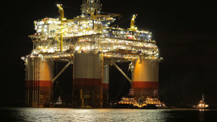 Chevron's Big Foot semisubmersible production platform