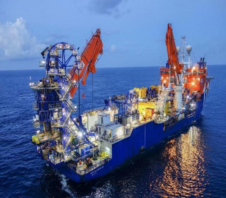 McDermott's subsea construction vessel, North Ocean 102