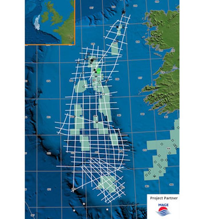 Echidna Regional Broadband 2D seismic survey the Atlantic margin off western Ireland