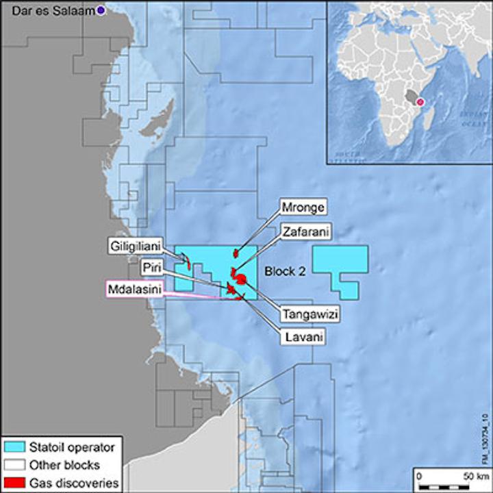 Statoil block 2 offshore Tanzania