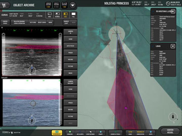 Offshore operations monitoring panel. Courtesy Aptomar