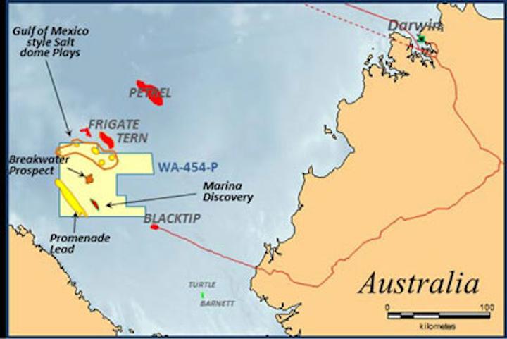 WA-454-P permit offshore Western Australia