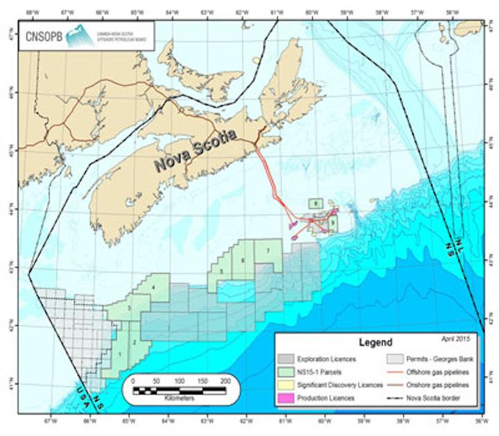 Canada-Nova Scotia Offshore Petroleum Board's Call for Bids NS15-1