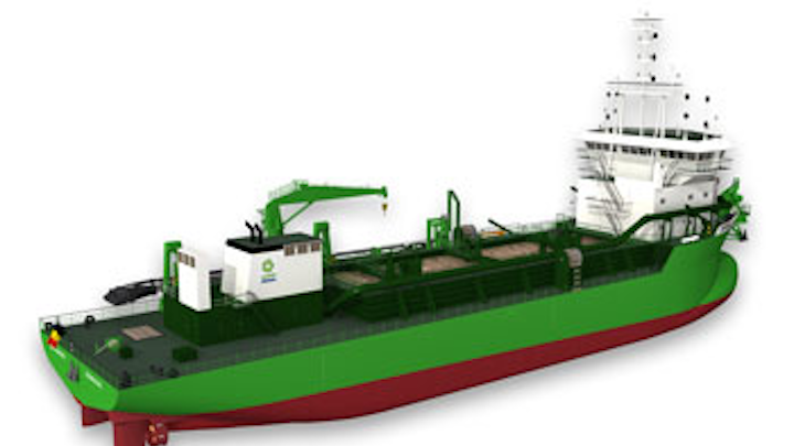 Rendering of the first ever LNG-powered trailing suction hopper dredge