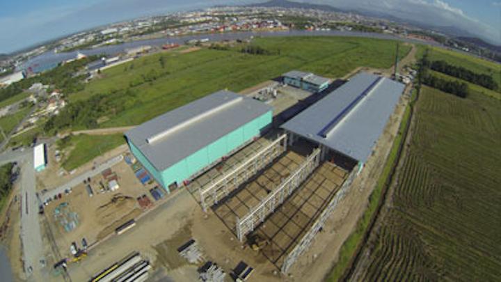 New Huisman plant on Itajai-Açu river, Brazil