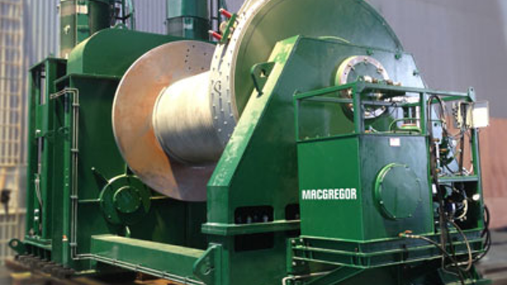 MacGregor 90-metric ton (99-ton) electric main hoisting winch