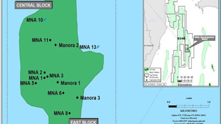 Manora oil field development in the Gulf of Thailand