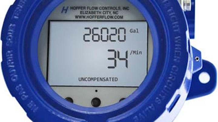 Hoffer Flow Controls Inc. LCD HIT-4U Rate Indicator