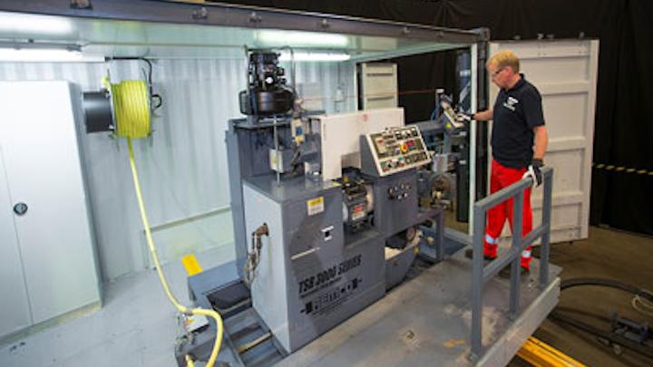 Trelleborg Offshore's mobile coatings unit