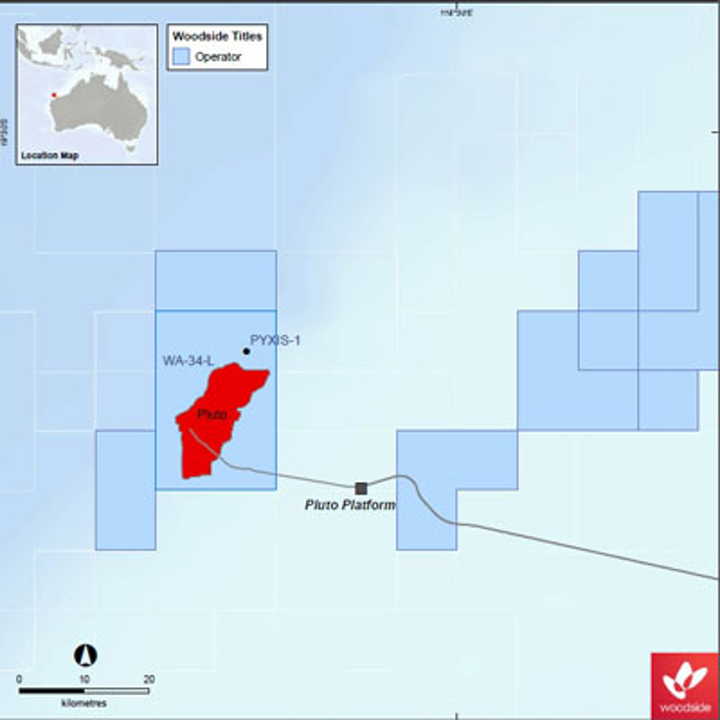 Woodside Pyxis 1 gas discovery well offshore Western Australia
