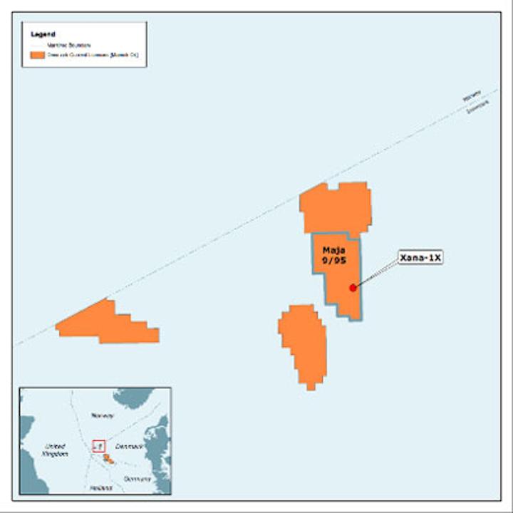 Maersk Oil Xana prospect in the Danish North Sea