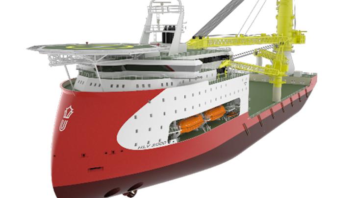 Ulstein HX104 heavy-lift vessel design