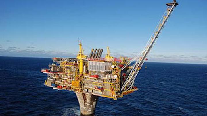 Draugen oil field complex