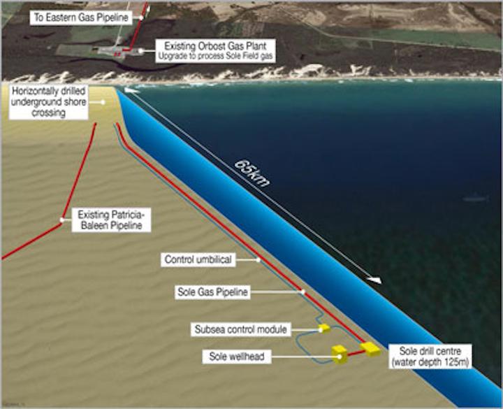 Sole Gas Project development schematic