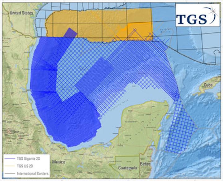 TGS Gigante 2D seismic survey offshore Mexico