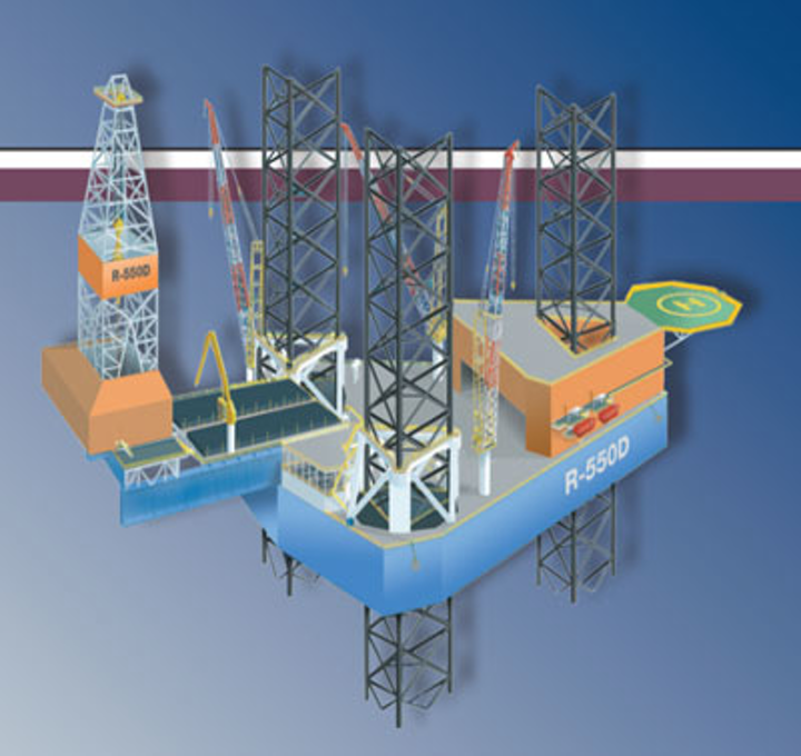 R-550D design jackup drilling rig