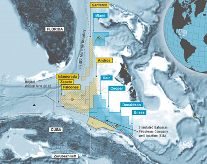 Map of BPC's licenses offshore the Bahamas