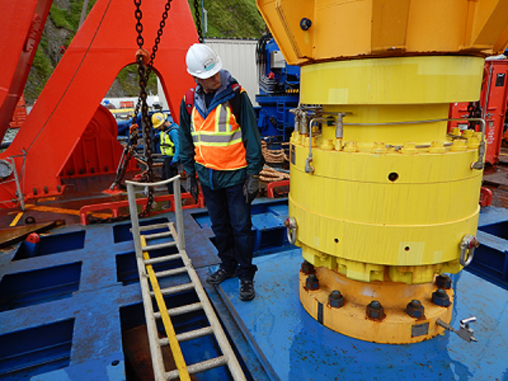 BSEE personnel completing pre-drill inspection