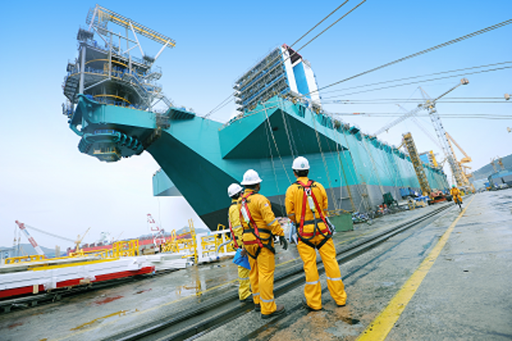 PFLNG 1, slated to be the world's first FLNG vessel