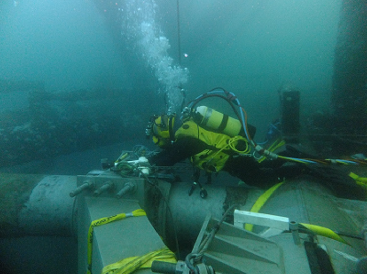 A Harkand diver working in Mexican waters.