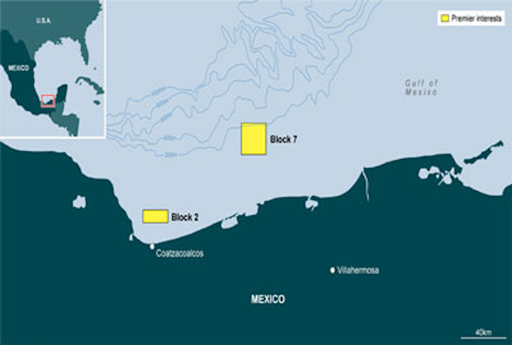 Blocks 2 and 7 offshore Mexico.