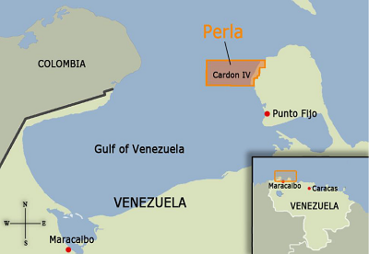 The Perla gas field, located in the Gulf of Venezuela