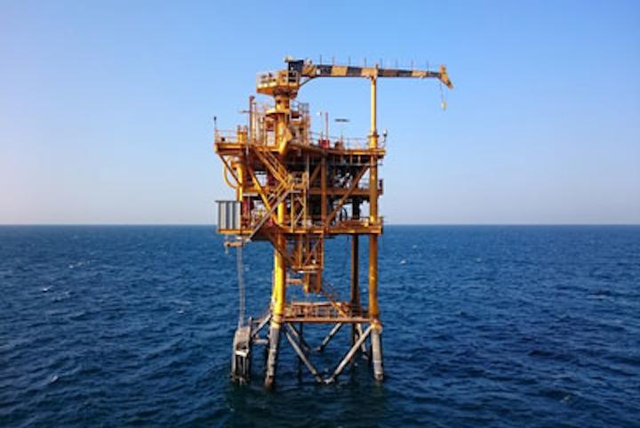 Zora gas field platform