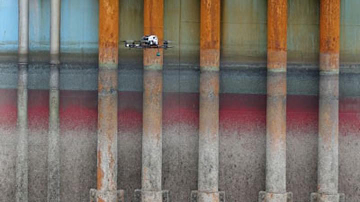 Offshore drone inspection program