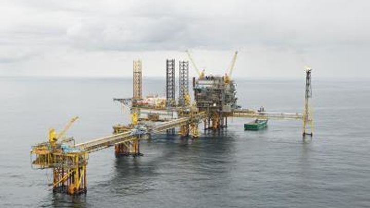 Tyra gas field offshore Denmark