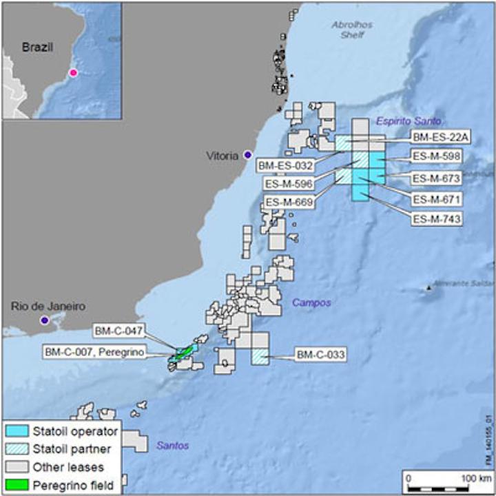 Presalt block BM-C-33 in the Campos basin offshore Brazil