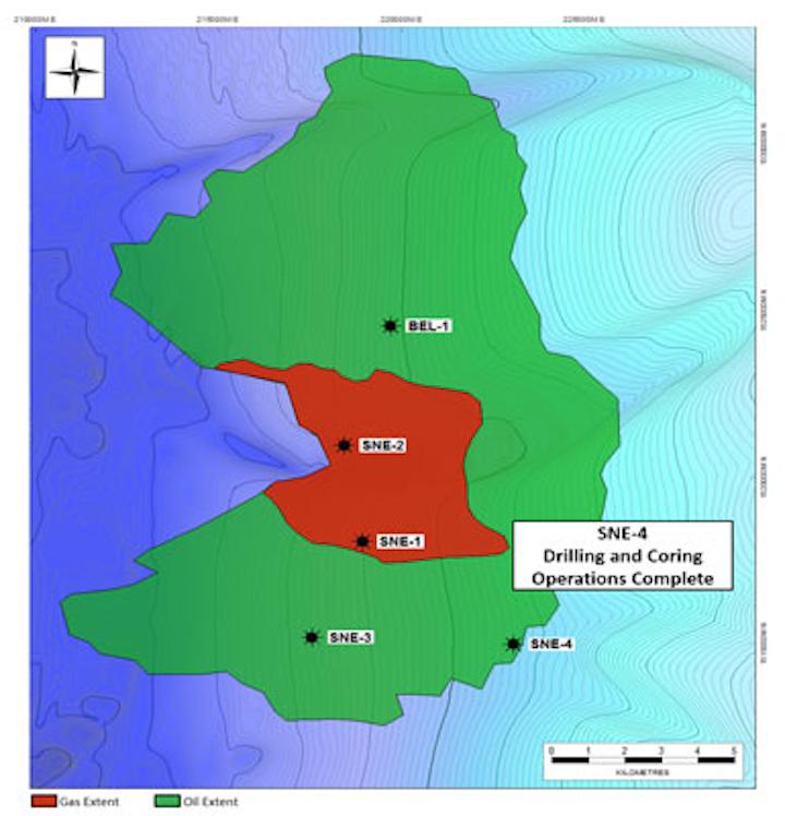 Deepwater SNE appraisal wells offshore Senegal