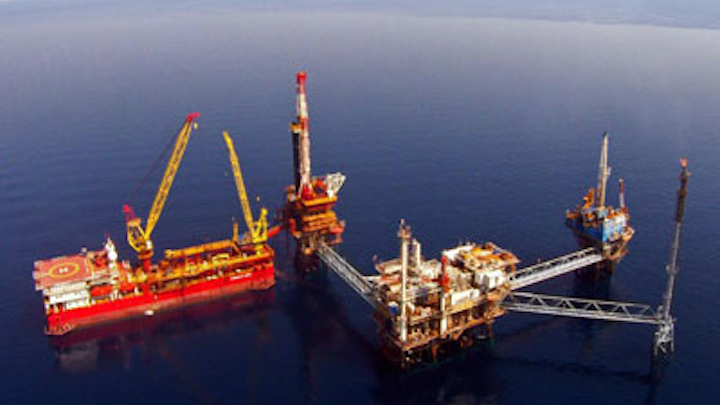 Prinos oil field offshore Greece