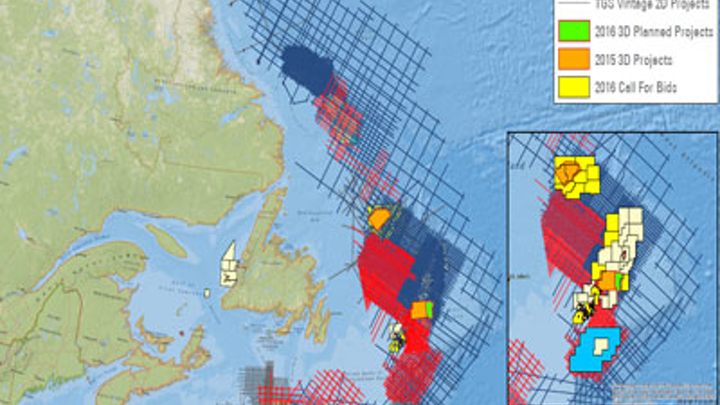 Offshore eastern Canada
