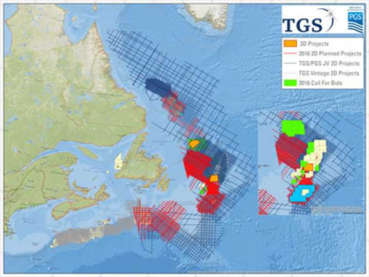 TGS offshore eastern Canada