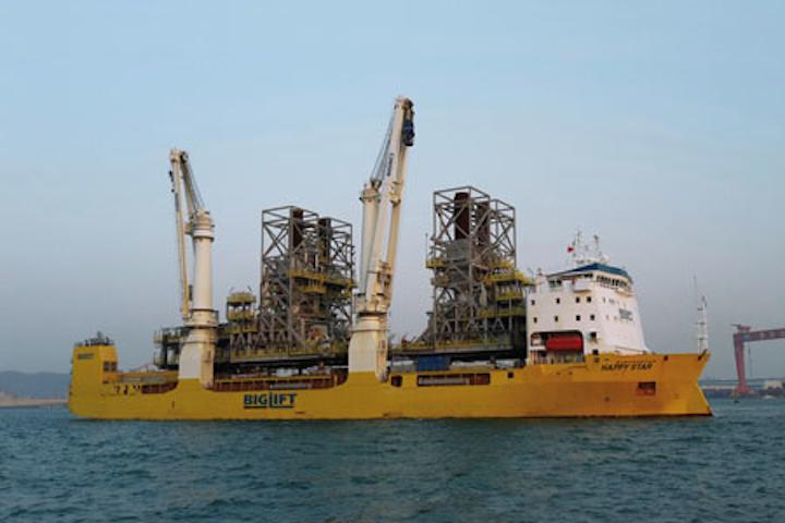 BigLift Shipping's Happy Star heavy-lift vessel