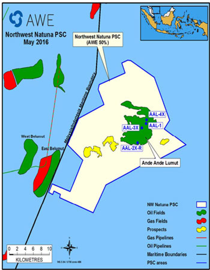Northwest Natuna PSC in the Natuna Sea offshore Indonesia