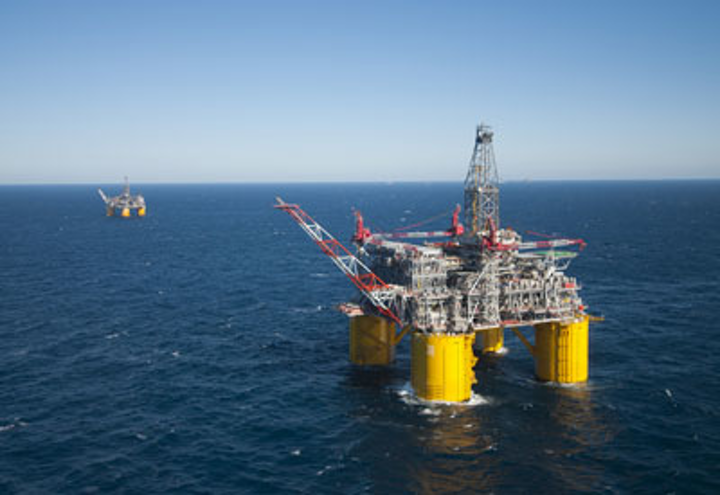 Shell's Olympus platform in the deepwater Gulf of Mexico