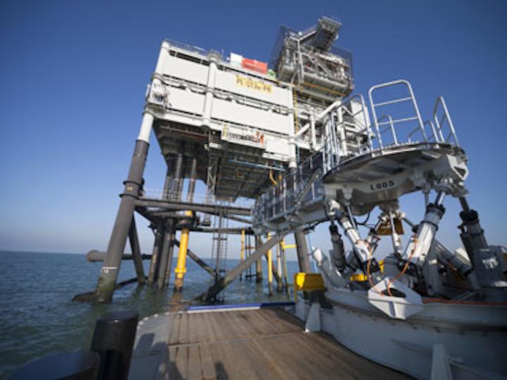 Ampelmann's L-Type system on board a Damen fast crew supplier 5009 vessel