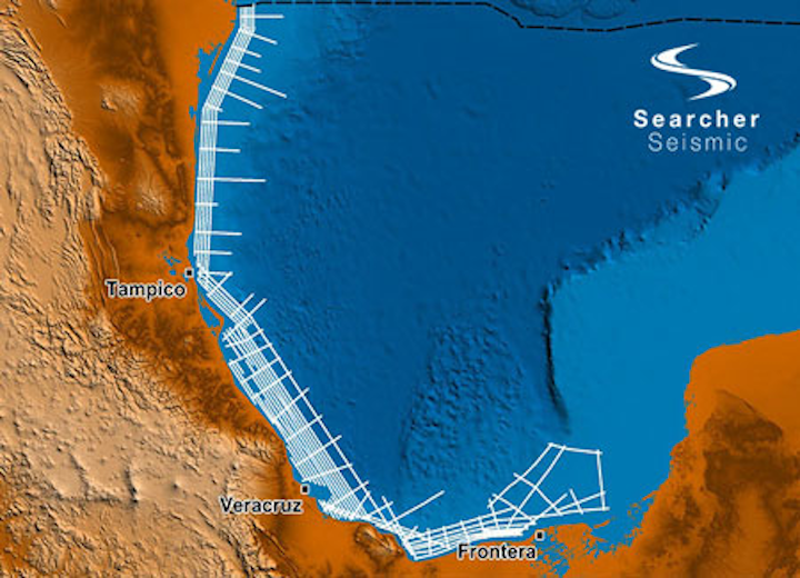 Buscador Near-Shore 2D seismic survey offshore Mexico