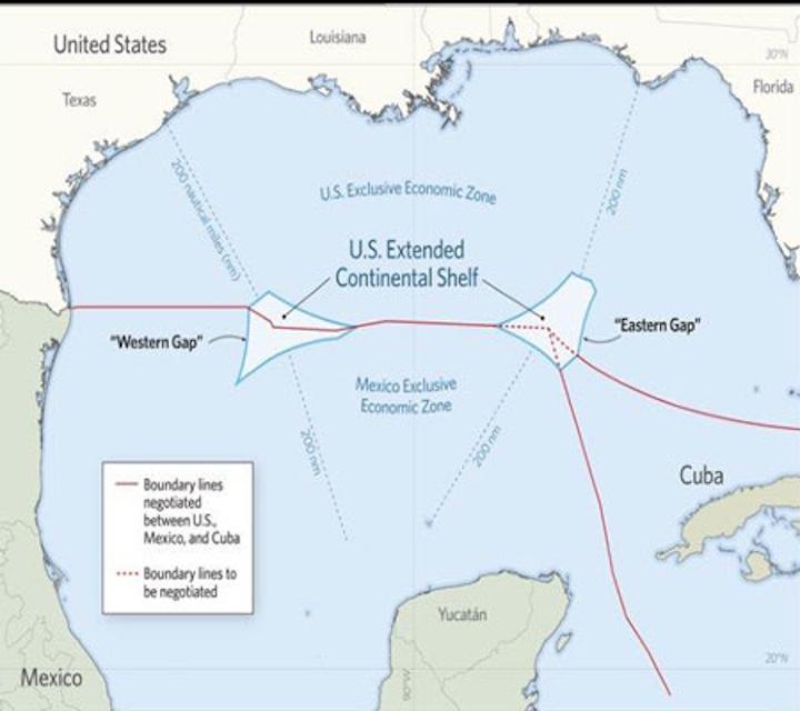 """Gulf of Mexico """"doughnut holes"""""""